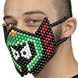 Kandi Gear Mascara Kandi Quirurjica Rave de Marvin el Marciano, mascara de rave, mascara de halloween, mascara de cuentas para festivales de musica y fiestas