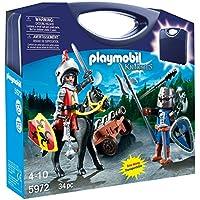 Playmobil Knights Carry Case Niño - Kits de Figuras de Juguete para Niños (4 Año