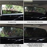 Uarter 2Pcs Tendine Parasole Auto Bambini per Finestrino Laterale dellAuto Block Raggi UV, Protegge Bambini e Animali Domestici
