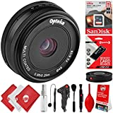 Opteka 28mm F/2.8 HD MC Manual Focus Prime Lens For Canon EF-M Mount APS-C Digital SLR Cameras M100 M10 M6 M5 M3 M2 Plus Bonus 16GB 12PC Bundle