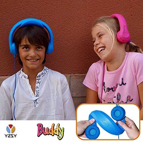 yzsy-casque-audio-buddy-ecouteurs-pliables-pour-les-enfants-avec-controle-du-volume-compatible-avec-