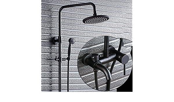 ZXY-le cuivre bronze noir douche douche package european s/érie r/étro salle de bains avec une pulv/érisation /à main lev/ée