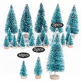SERWOO (H: 4.5cm+6.5cm+12.5cm) 20 Stück Mini Weihnachtsbaum Künstlich Klein Mini Tannenbaum Christbaum mit Ständer Weihnachtsdeko Weihnachten Tischdeko Winterdeko Geschenk Decoration oder Modellbau