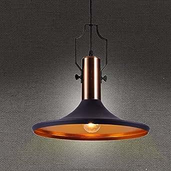 mstar vintage industrielle suspension luminaire cuivre fini m tal plafonnier lustre culot e27. Black Bedroom Furniture Sets. Home Design Ideas