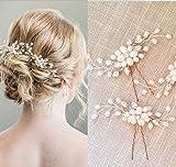 Handmadejewelrylady Haarnadeln, Vintage, Braut, Party, Kristall, Strasssteine, 2er-Set, silberfarben