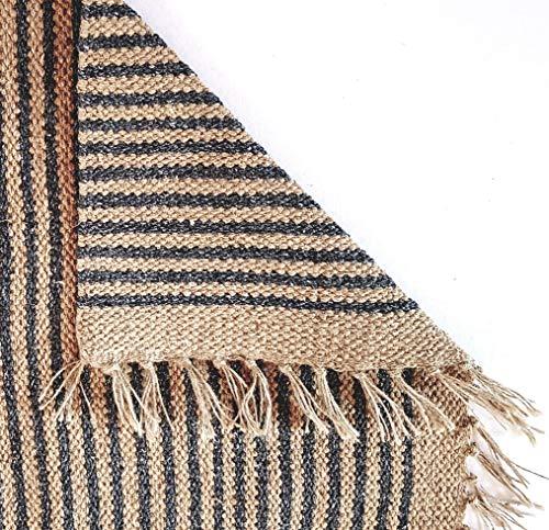 Second Nature Online - Alfombra de Yute de algodón con Dos Rayas, Col