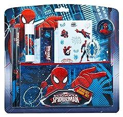 Idea Regalo - Undercover spju6454-Set per la Scuola, Marvel Spider-Man, 8Pezzi