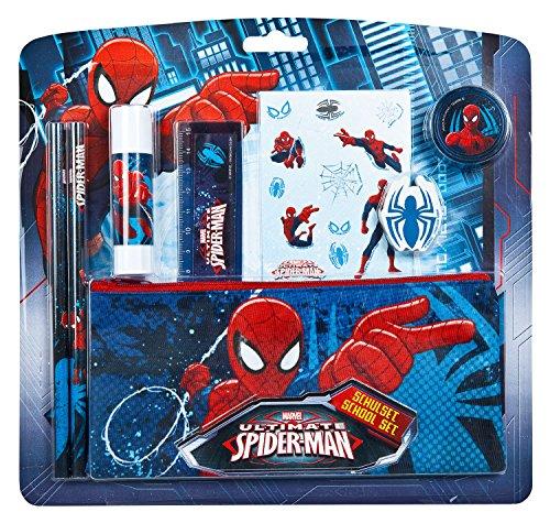 Undercover spju6454–Set, Material escolar Marvel Spider-Man, 8piezas