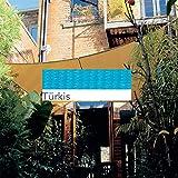 Coolaroo Sonnensegel Quadrat 3,6x3,6m Sonnenschutz Beschattung versch. Farben , Farbauswahl:Tuerkis
