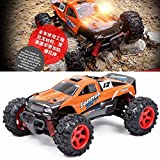 RC Auto, SUBOTECH 25 MPH 40 km / h High Speed 1:24 Scale Off Road kingkoA sehr beliebtes Geschenk an das Kind eine glückliche Kindheit (Orange)