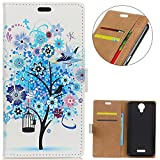 KM-WEN® Case for Wiko Jerry 2 (5 Inch) Book Style Blue