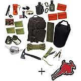 72h Fluchtrucksack + Alfashirt Aufkleber Rucksack Krisenvorsorge Krise Überlebensrucksack Bug Out Bag Get Home Bag Flucht Survival Apocalypse 2#17647
