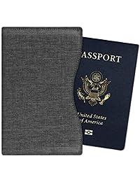 131b67daf Fintie Passport Holder - Super Thin Premium Fabric RFID Blocking Passport  Protector Cover Case