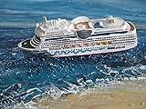 Schiffsmodell MS Aida stella Miniatur Boot Schiff ca. 12 cm Kreuzfahrtschiff