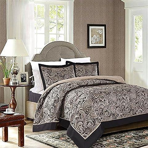3pièces Ensemble de chambre à coucher Parure de lit de