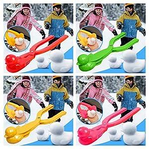Snakell 1PC Kinder Schneeball Clip, Schnee Maker Clip, Ente Form Schneeballmacher Winter Schnee Scoop Clip Sand Tonformwerkzeug Kinder Spielzeug, Schneeball Tool, Schneesand Mold Tool (Gelb, Klein)
