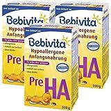 Bebivita Pre HA, Hypoallergene Anfangsmilch - von Geburt an, 3er Pack (3 x 500g)