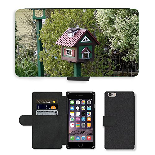 hello-mobile PU LEDER LEATHER FLIP CASE COVER HÜLLE ETUI TASCHE SCHALE//M00136411 Aviary Wohnsiedlung Green Bird Feeder//Apple iPhone 6 PLUS 5.5