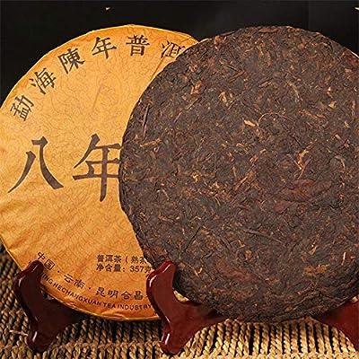 Thé Pu-erh 357g (0.79LB) vieux Yunnan puerh cuit Ripe vieilli Puer Tea Thé rouge Thé noir Thé chinois Yunnan Pu'er tea cake