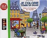 Image de Je colorie comme un grand : Villes et drapeaux du monde