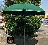 GLOBOLANDIA SRL 89503VER - Ombrellone Parasole da Spiaggia in Alluminio da 220 cm con Snodo per la...