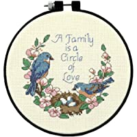 "Learn-A-Craft Family Love Counted Cross Stitch Kit-6"" Round 14 Count"