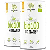 ProVista Bio100 - Bio Eiweisspulver Doppelpack (2 x 450 g) (Honig-Vanille) aus Schweizer Alpenmilch