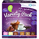 Forza Sustitutos de Comidas Paquete Variety – Deliciosos Sustitudos de Comidas para la Pérdida de Peso – Batidos para la Pérdida de Peso – Paquete de 28 Días