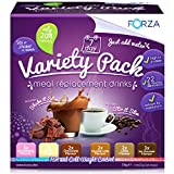 Forza Meal Replacement Drinks Variety Pack - Weight Loss & Meal Replacement Shakes - Best Diet Shakes - 7 Day Supply