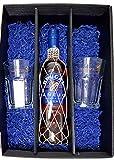 Brugal Geschenkset - Brugal Anejo Superior Rum 70cl (38% Vol) + 2x Rum-Gläser