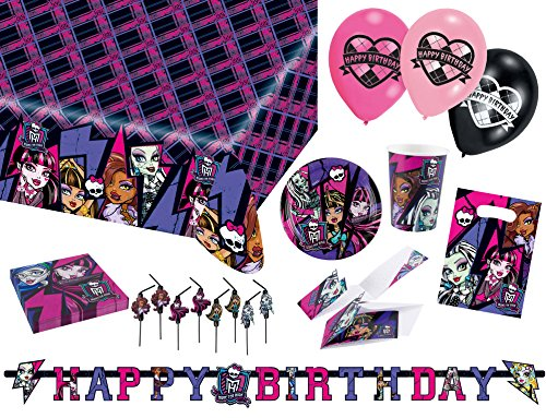 Amscan 9050 0226 Party Set Geschirr Monster High ()