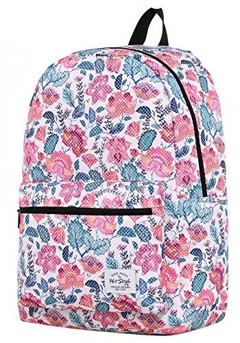 HotStyle TrendyMax Galaxy Sac à dos Scolaire - Peut contenir un ordinateur portable jusqu'à 15 pouces - Polka Floral