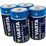 Varta Longlife Power C Baby LR14 Batterij (verpakking met 4 stuks) Alkaline Batterijideaal voor speelgoed zaklamp CD-speler e