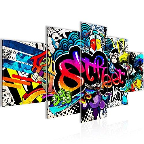 Tableau decoration murale Graffiti street art 200 x 100 cm...