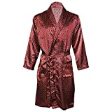 Best Robes For Men - Octave Mens Luxury Summer Printed Satin Kimono Wrap/Robe/Dressing Review