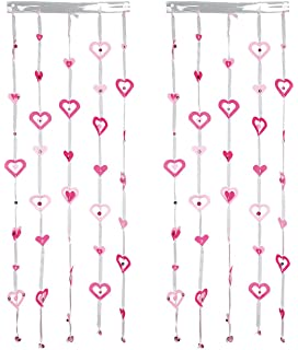 QIMEI-SHOP Tende a Frange 2 Pezzi Foil Curtain Frange Finestre Tende per Festa di Compleanno Matrimonio Decorazione di Natale 245 x 92 cm