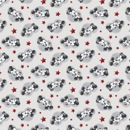 Baumwoll Jersey True Love Mickey & Minnie Kinderstoff Meterware Designerstoff 1 Meter (Jersey Hc)
