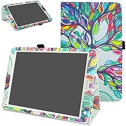 """Archos 97C Platinum Funda,Mama Mouth Slim PU Cuero Con Soporte Funda Caso Case para 9.7"""" Archos 97C Platinum Android 6.0 Tablet PC,Love Tree"""