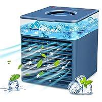Mini Klimaanlage Klein Mobile Klimageräte,4 In 1 Persönlicher Luftkühler,Luftbefeuchter Wasserkühlung Ventilator mit…