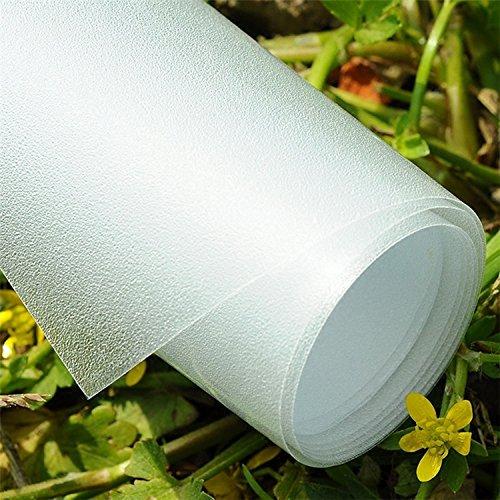 INNOCHEER Anti-UV Statische Fensterfolie Sichtschutzfolie Milchglasfolie, 45x200cm
