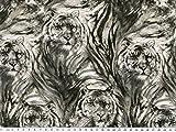 Zanderino ab 1m: Digitale Baumwolle-Popeline, Tiger,