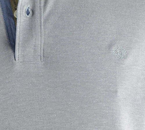 Bugatti Polo Shirt grau strukturiert Grau
