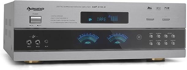 Auna AMP5100 5.1 Heimkinosystem HiFi Surround AV-Verstärker mit 1200 Watt und Mikro-Sektion (UKW, 5.1/3.1/2.1 Modus, Koaxial RCA) (Importiert)