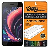HTC Desire 10 Pro Roxel® {Buy 1 GET 1 Free} Unbreakable Anti Shock Series Tempered Glass Screen Protector for HTC Desire 10 Pro (Stone Black, 64 GB)