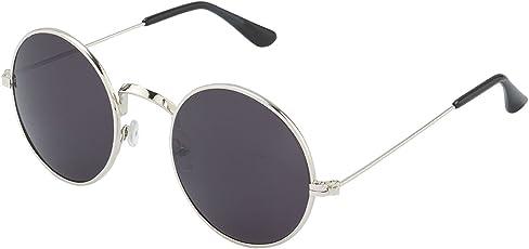 Silver Kartz Classic Round Unisex Sunglasses (wy137|50|Black)
