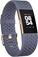 Fitbit Charge 2 Special Edition Activity Tracker with Wrist Based Heart Rate Monitor, Blue/Grey, Small