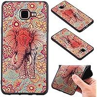 Qiaogle Téléphone Coque - Soft TPU Silicone Housse Coque Etui Case Cover pour Samsung Galaxy A5 (2016) / A5 (2016) Duos / A510 (5.2 Pouce) - KT65 / Retro éléphant