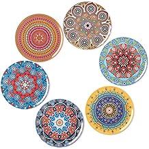 BOHORIA® Premium Design Posavasos (Set de 6) - Posavasos Decorativos para Vidrio,