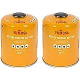 FUMOSA Gaspatronen set voor Weber Q100/1000-serie, Performer & Go Anywhere, ventielpatroon elk 450 g aantal 2 cartridges
