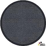 matches21 Fußmatte Fußabstreifer schmutzabsorbierend Schmutzfangmatte Uni einfarbig grau Ø 65 cm rund waschbar/viele Farben wählbar